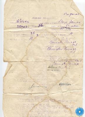 Certificate, Dispersal