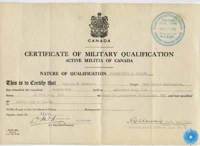 Certificate, Qualification