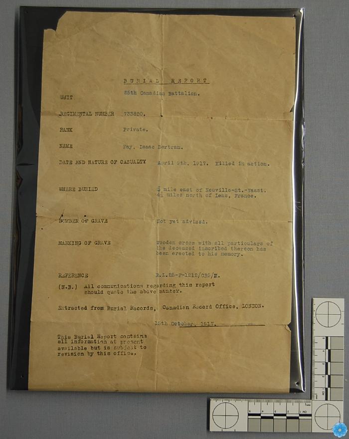Certificate, Death